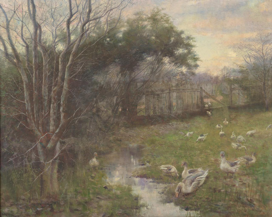 Frederick McCubbin, 'A Winter Evening', 1897. NGV Australia. This painting depicts the small steam that ran through the McCubbins' Brighton property, on the corner of New Street and Kinane Street.