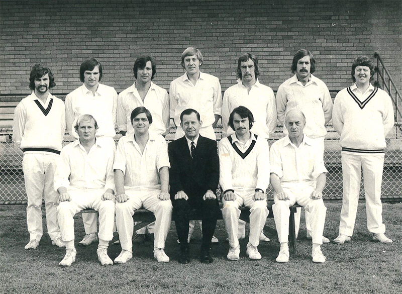 Brighton Cricket Club 3rd XI Premiers, 1973-74. Brighton Historical Society collection.