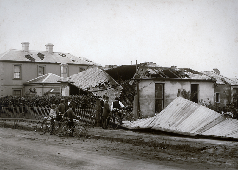 Damage to the home of Mr R. Smith in Wellington Street
